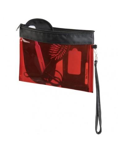 Pequeña bolsa de viaje transparente...