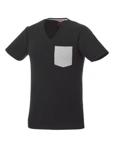 Camiseta de pico con bolsillo para...
