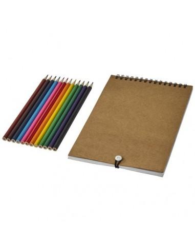 Set para colorear con libreta de...