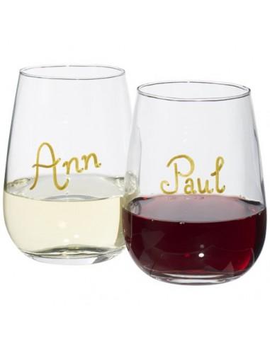 Set de vino con marcador de cristal...