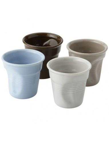 Set de 4 vasos espresso de cerámica...